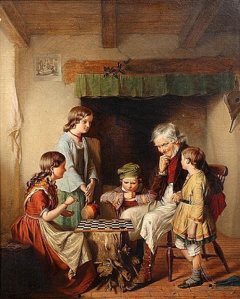 John William Haynes (active 1852-1882) Checkered