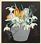 John Hall Thorpe (British, 1874-1947) Spring flowers signed in pencil to the margins colour woodcuts (a set of four) 17 x 15cm. (4), Hall Thorpe, Click for value