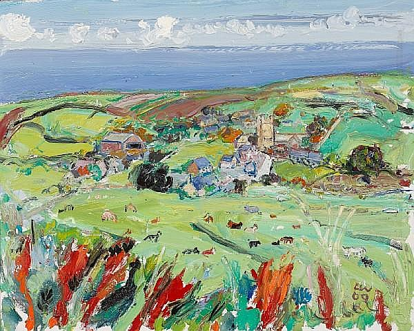 Linda Weir (British, born 1951) First Cut Colours, Zennor