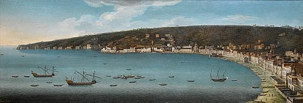 Tommaso Ruiz (active Naples mid 18th Century) Naples from the Castel dell'Ovo