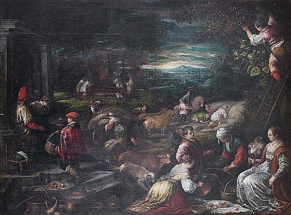 Leandro da Ponte, called Leandro Bassano (Bassano 1557-1622 Venice) An Allegory of Summer