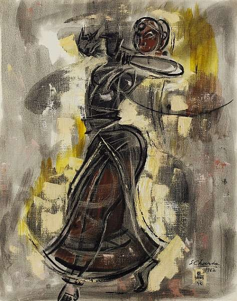 Shiavax Chavda (India, b. 1914) <br>Dancing Woman