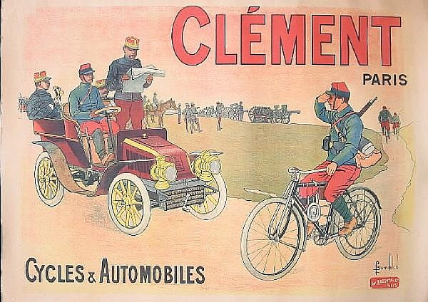 A Clement advertising poster, French, circa 1904,