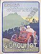 An Automobiles G Brouhot advertising poster, French, 1908,, Ferdinand Mifliez, Click for value