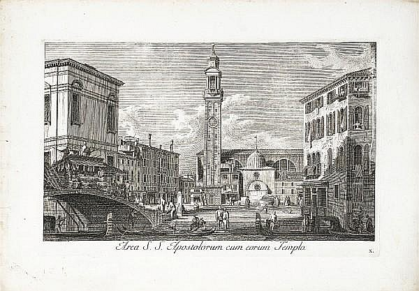 Antonio Visentini (Italian, 1688-1782) Urbis Venetiarum Prospectus Celebriories ex Antonii Canal Etchings, 1735, ten from the series, all good impressions of the first state of three, on laid, with wide margins, 270 x 425mm (10 5/8 x 16 3/4in)(PL) 10
