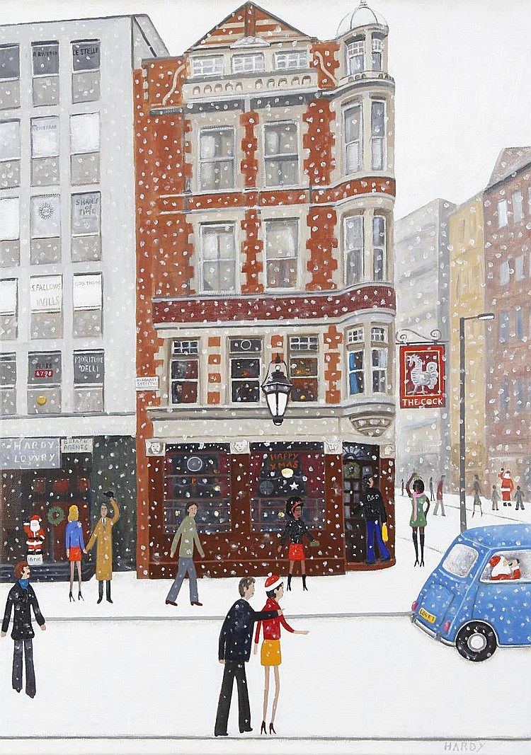 Robert Hardy (British, born 1952) 'Outside a pub'