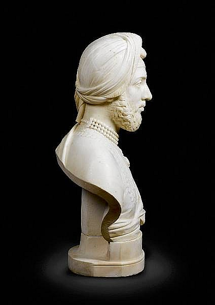 <BR>John Gibson RA (1790-1866) Maharajah Duleep Singh, Last Ruler of the Punjab (1838-93), a portrait bust sculpted in Rome, 1859-60