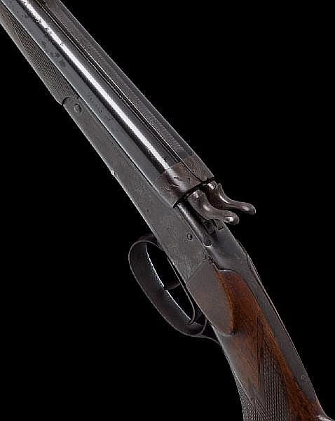 A German .22 (Hornet)/.410 combination hammer gun/rifle, no. 2506