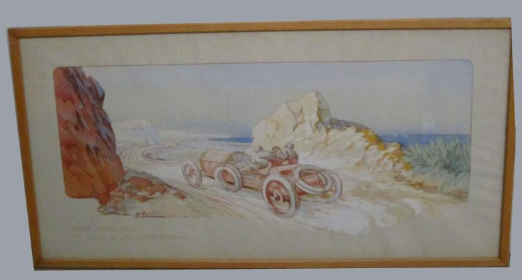 Two hand-coloured lithographed prints by Montaut and Gamy,