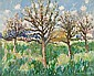 Norman Lloyd (Australian, 1897-1985) Orchard with buildings beyond, Norman Lloyd, Click for value