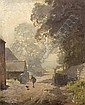Charles Knight (British, 1901-1990) Figures on a country path, Charles (1901) Knight, Click for value