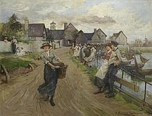Albert Chevallier Tayler, RBC (British, 1862-1925) On the promenade