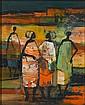 Johannes Wilhelmus (Jan) Dingemans (South African, 1921-2001) Women gossiping 27 x 21.5 cm. (10½ x 8½ in.), Jan Dingemans, Click for value
