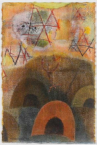 Louis Khela Maqhubela (South African, born 1939) Nongoma II 30.5 x 20 cm. (12 x 8 in.)