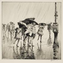 Martin Lewis (1881-1962); Wet Saturday;
