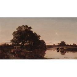 Alfred Walter Williams (British, 1824-1905) Broadford Mill Stream, early Morning