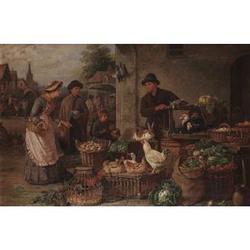 H.C. Bryant (British, fl. 1860-1890), Market day