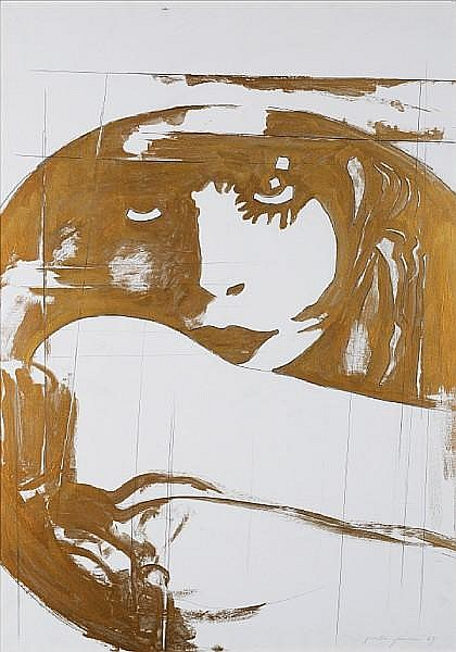 Giosetta Fioroni (Italian, born 1932) 'Golden Liberty', 1969