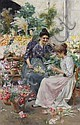 Stefano Novo (Italian, born 1862) The flower sellers, Stefano Novo, Click for value