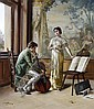 Karl Zewy (Austrian, 1855-1929) Studying the Master, Karl Zewy, Click for value