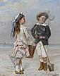 Albert Roosenboom (Belgian, 1845-1873) A day at the beach, Albert Roosenboom, Click for value