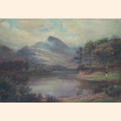 William Lakin Turner (British, 1867-1936), Derwent Water, oil on canvas, signed, bears inscription