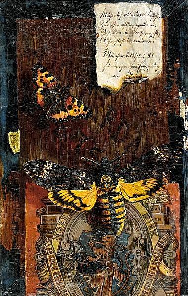 Hermann Gottlieb Kricheldorf (German, 1867-1949) A trompe l'oeil still life