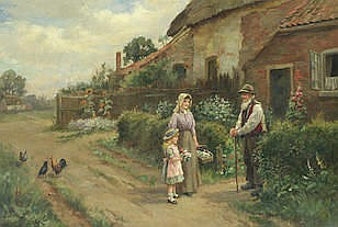 Arthur Verey (British, 1840-1915) Grandpa's Birthday