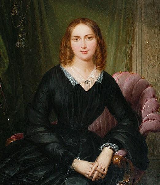Felice Schiavoni (Italian, 1803-1881) Portrait of a lady