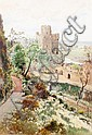 Cyril Ward (British, 1863-1935) Winchester Tower from King James's Herbere, Norman Tower Garden, Cyril Ward, Click for value