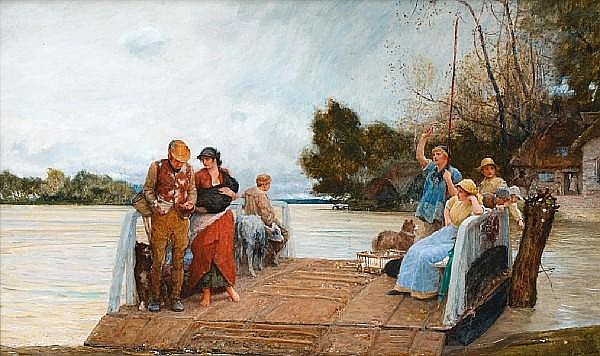Robert Walker Macbeth, RI, RPE, RWS (British, 1848-1910) On the way to market -