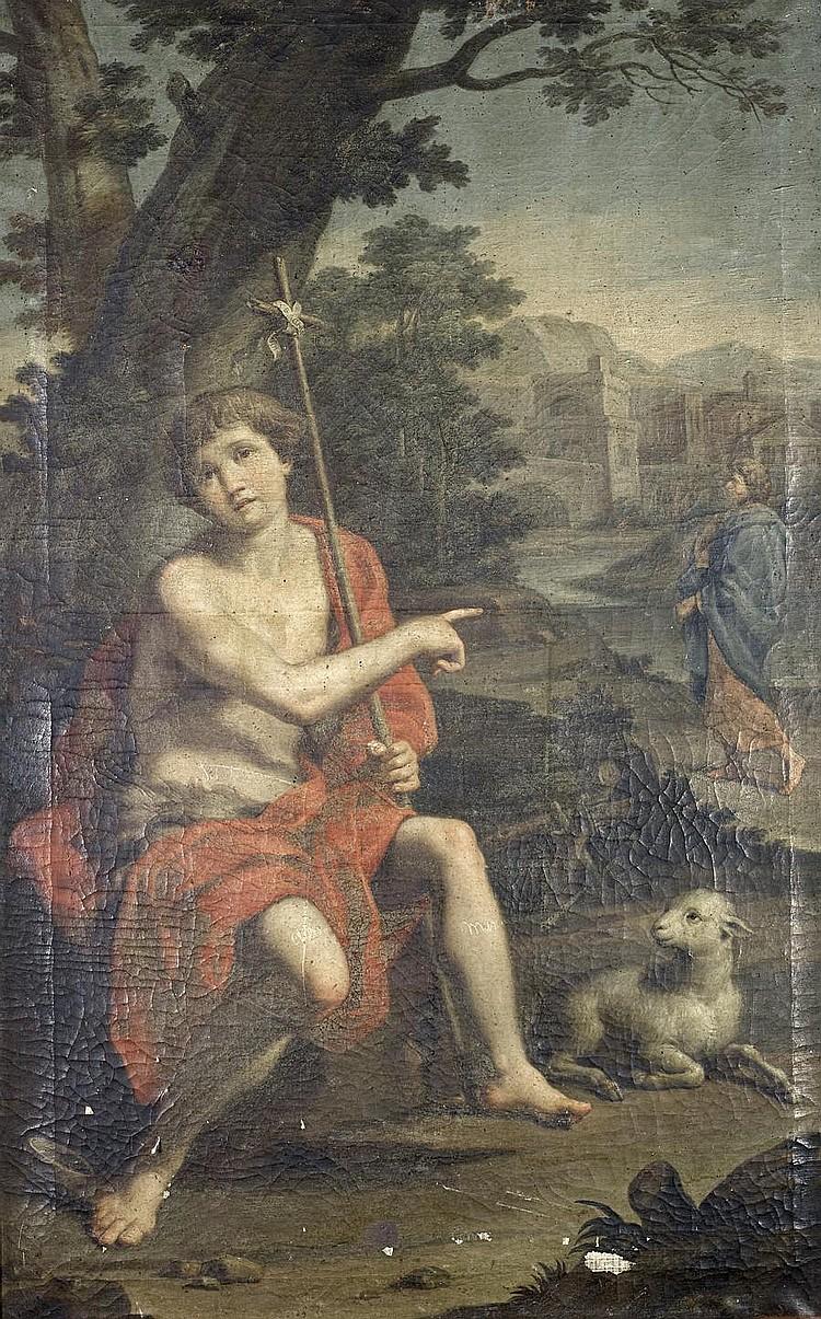 Jacopo Alessandro Calvi, called il Sordino (Bologna 1740-1815) Saint John the Baptist