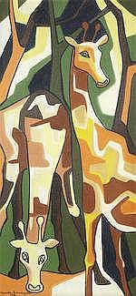 * SENAKA SENANYAKA (SRI LANKA, B. 1951)   Untitled (Giraffes)