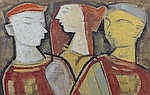 * K.S. KULKARNI (INDIA, 1945-1994)   Three Figures