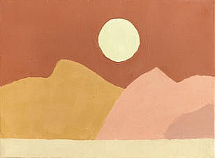 ETEL ADNAN (Lebanon, born 1925) Abstract Landscape