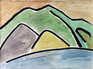 ETEL ADNAN (Lebanon, born 1925) The Mountain