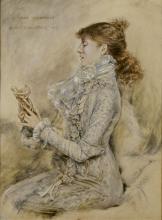 Jules Bastien-Lepage (French, 1848-1884) Sarah Bernhardt 11 x 8 1/2in (27.9 x 21.6cm)