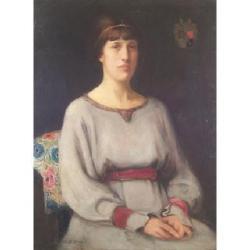 Rosalie M Emslie (British, b.1891) 91 x 71cm