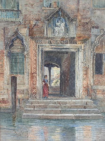 Henry Sheppard Dale (British, 1852-1921) A Venetian doorway,