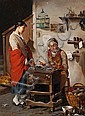 Giuseppe Costantini (Italian, 1844-1894) The shoemaker, Giuseppe (1844) Costantini, Click for value