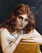 Tito Conti (Italian, 1842-1924) Girl with auburn hair, Tito Conti, Click for value