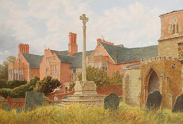 William Edward Cooke (British, ?-1895) Ragdale Old Hall, Leicestershire