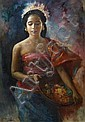 Raden Basoeki Abdullah (Indonesian, 1915-1993) 'Javanese Girl', Raden Basoeki Abdullah, Click for value