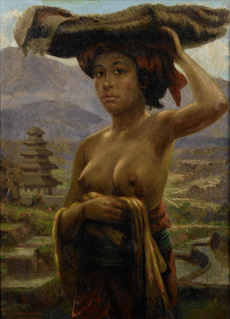 A.E. Herrmann (Dutch, active 1924-1950) Balinese woman