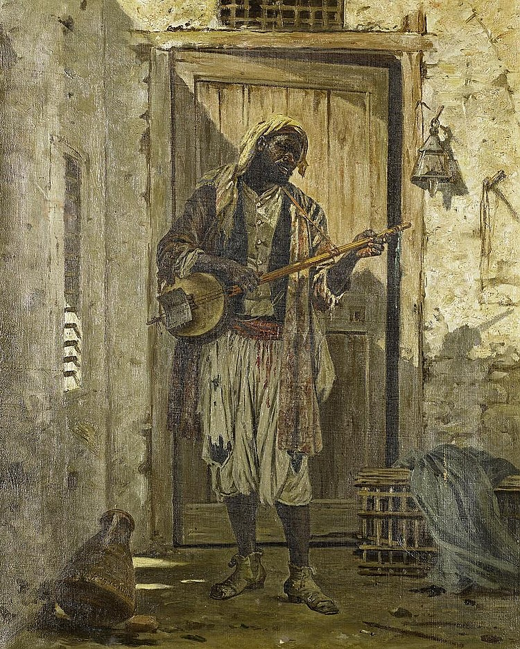 Cavalier Antonio Scognamiglio (Italian, 19th Century) Portrait of a musician