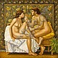 Theodoros Manolidis (Greek, born 1940) Erotic 70 x 70 cm., Theodoros Manolidis, Click for value