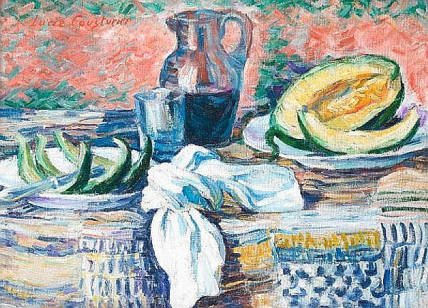 Lucie Cousturier (French, 1870-1925) Nature morte au melon