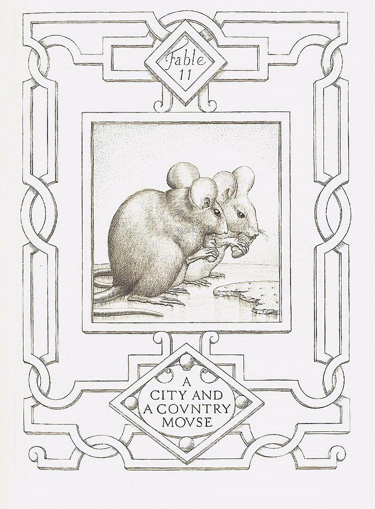 GOODEN (STEPHEN) AESOP. Fables translated by Roger L'Estrange, NUMBER 147 OF 525 COPIES, 1936