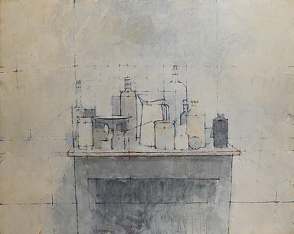 William Brooker (British, 1918-1983) Still life 101.5 x 127 cm. (40 x 50 in.)