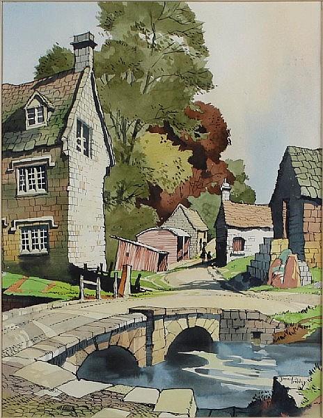 James Priddey (20th Century) Tenby Harbour